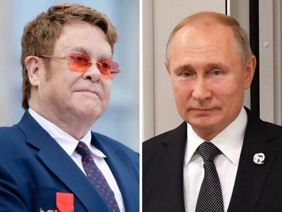 """Putin aseguró que Elton John """"está equivocado"""""""