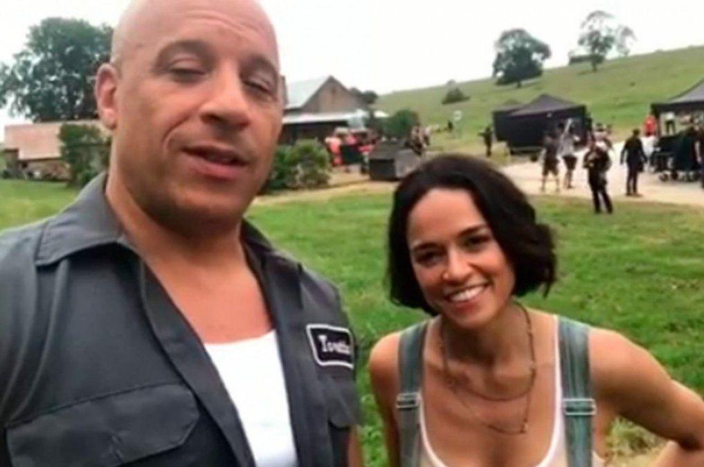 Vin Diesel mostró imágenes de la filmación de Rápidos y Furiosos 9