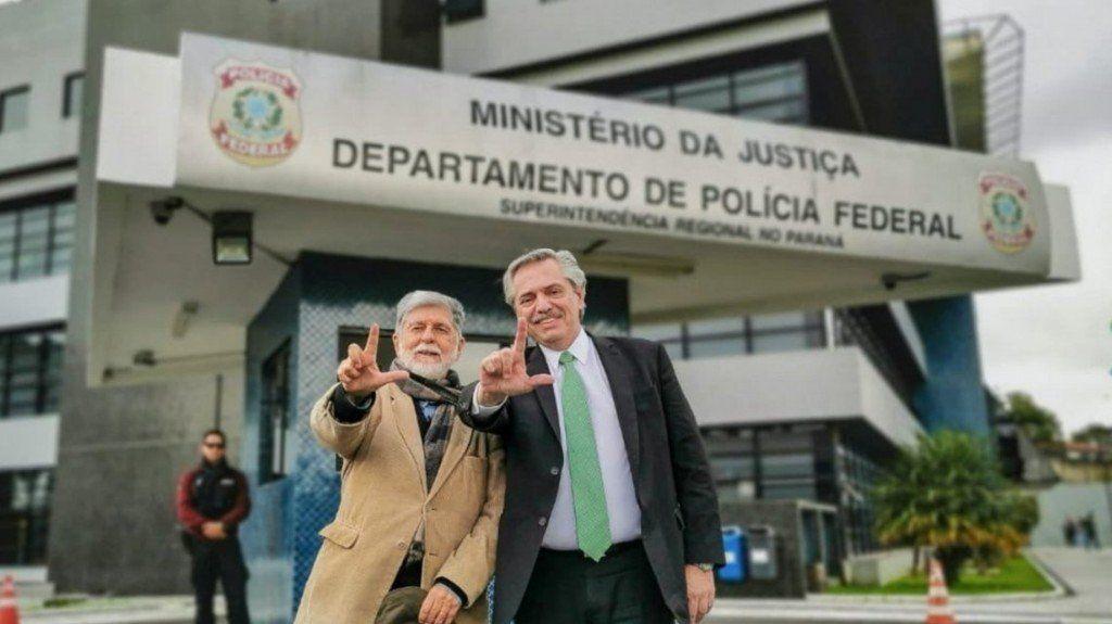 Alberto Fernández fue a Curitiba a visitar a Lula en la cárcel