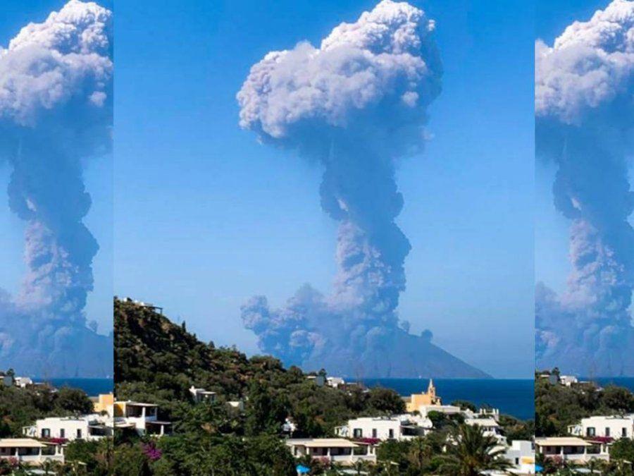 El volcán Strómboli hizo erupción y hay un muerto y un herido