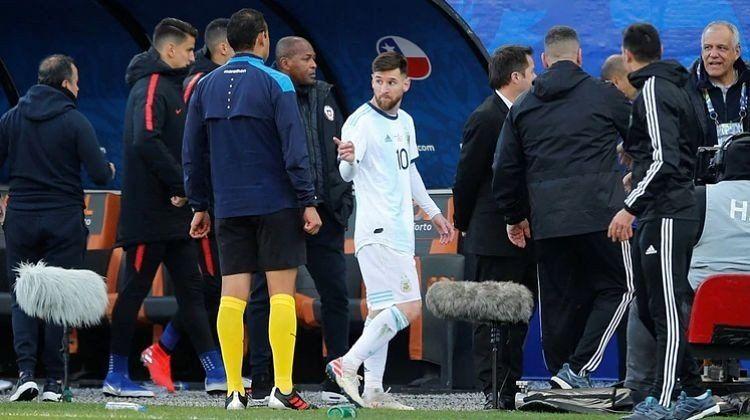La expulsión de Messi: el informe oficial del árbitro