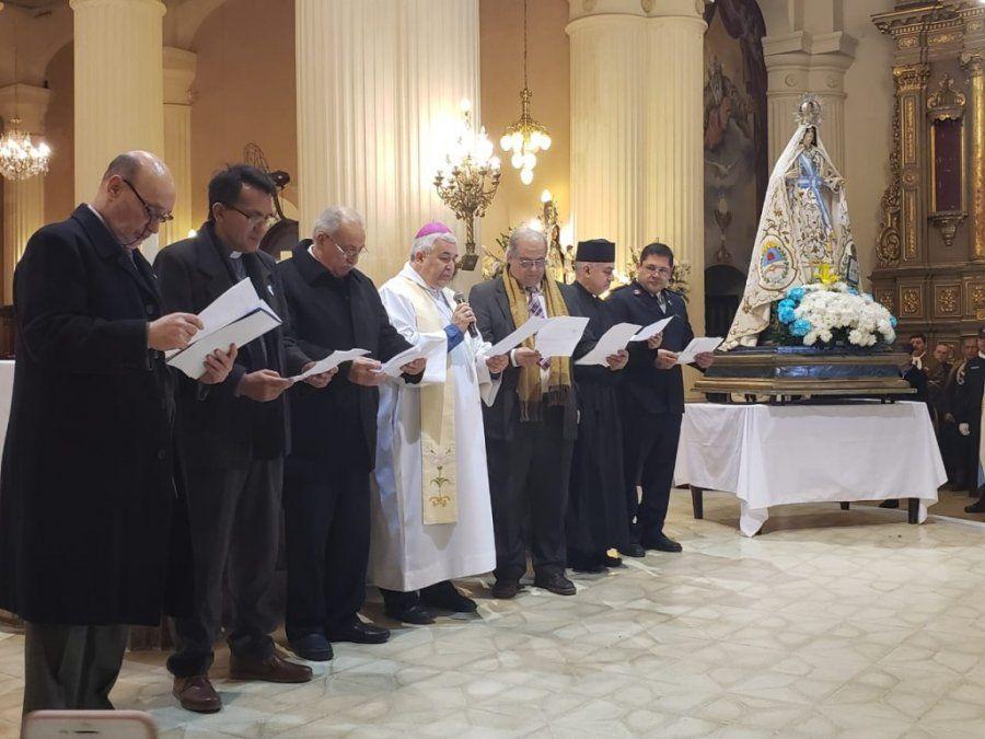 Sin Macri, Monseñor Carlos Sánchez llevó adelante el Tedeum del 9 de Julio