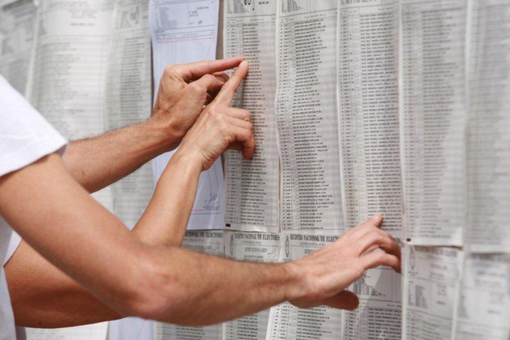 Ya se puede consultar el padrón electoral definitivo para las PASO