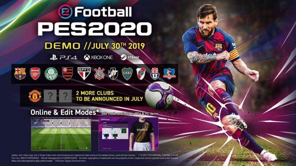 PES 2020: licencias confirmadas y DEMO con equipos argentinos