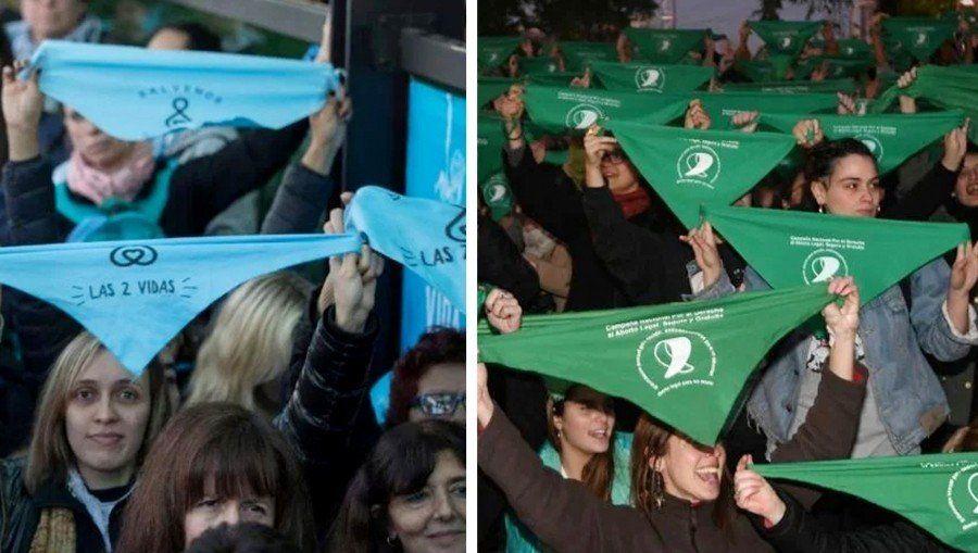Permitirán el uso de pañuelos verdes o celestes en boletas electorales