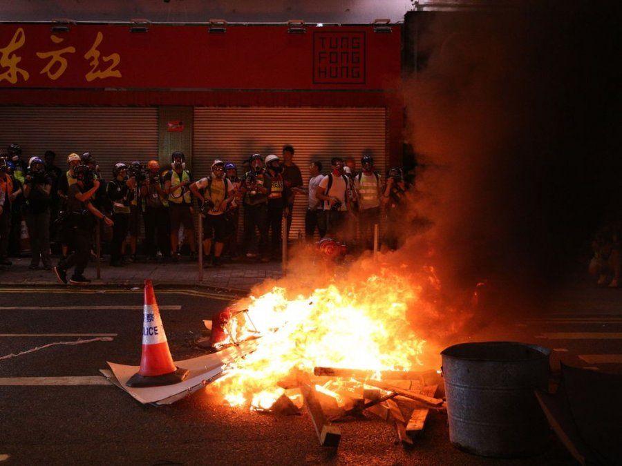 Nueva protesta en las calles de Hong Kong