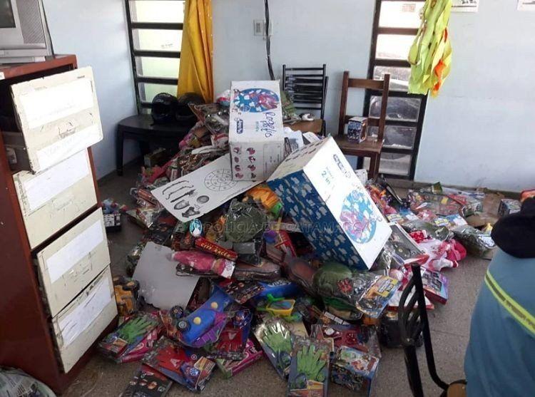 Secuestraron juguetes y prendas de vestir valuadas en 150 mil pesos