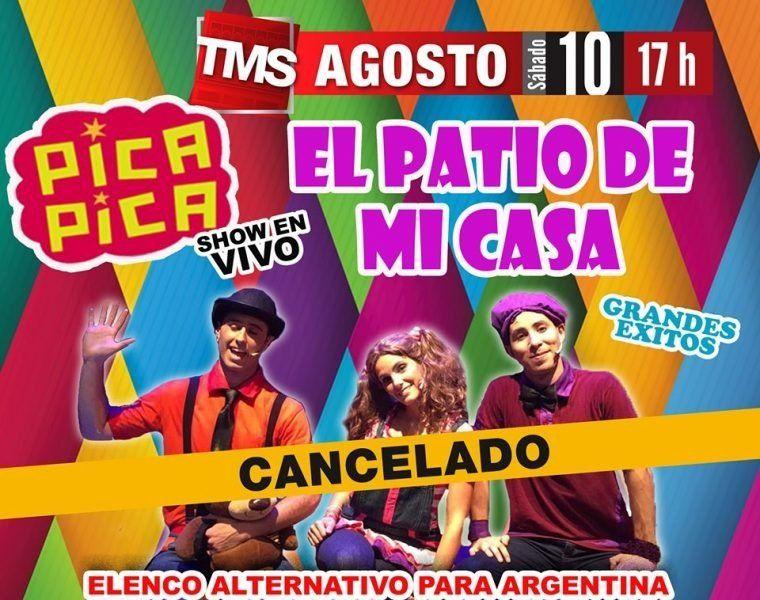 La producción de Pica Pica suspendió el show en Tucumán