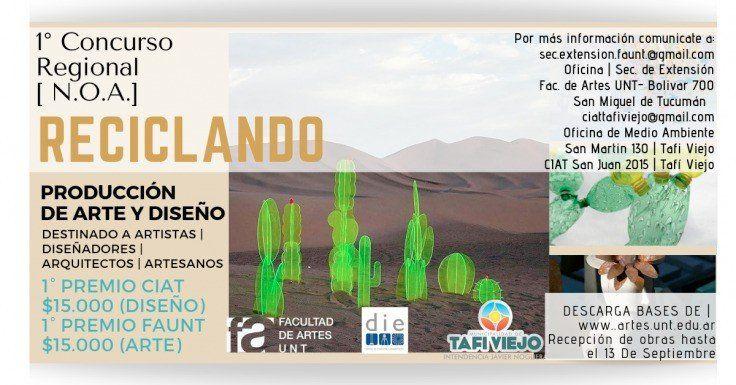 """El concurso regional """"Reciclando. Producción de Arte y Diseño"""" repartirá $30 mil en premios"""
