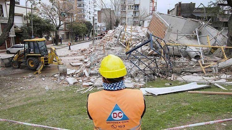 Se derrumbó un edificio en construcción sin causar víctimas