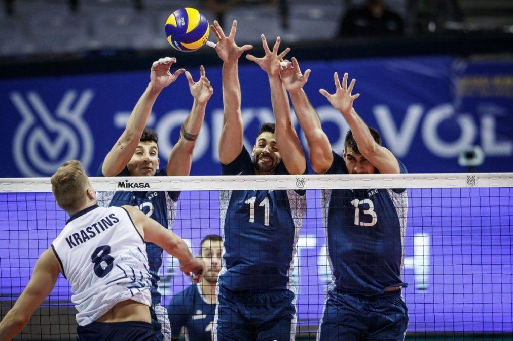 Voley masculino: Argentina, a un partido de los Juegos Olímpicos