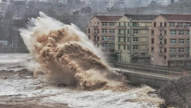 Más de un millón de evacuados por un tifón en China