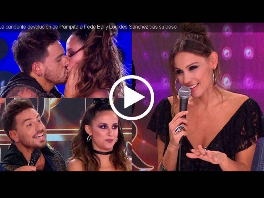 La pregunta de Pampita a Fede Bal y Lourdes Sánchez tras su súper beso: ¿Estaba prohibida la lengua?