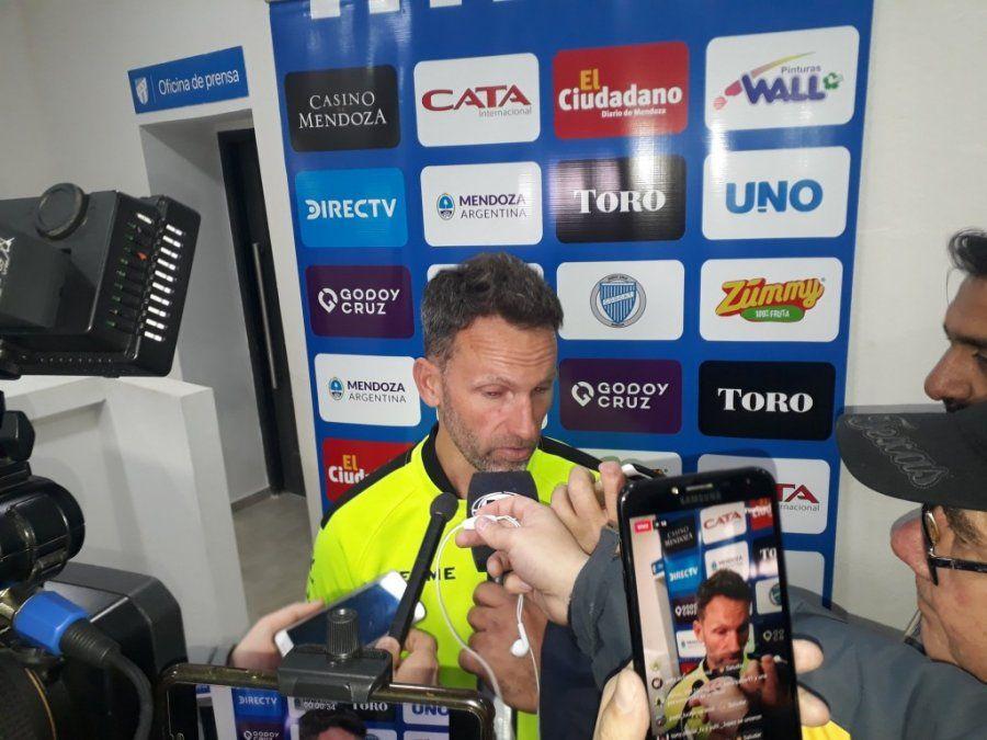 La derrota con Atlético, lo último de Bernardi al frente de Godoy Cruz