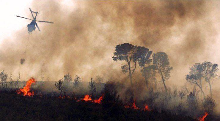 Aseguran que comenzó el control del incendio forestal en Bolivia