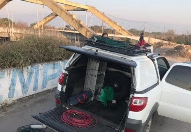 La Policía investiga la zona donde ocurrió el robo a periodistas de Canal 8