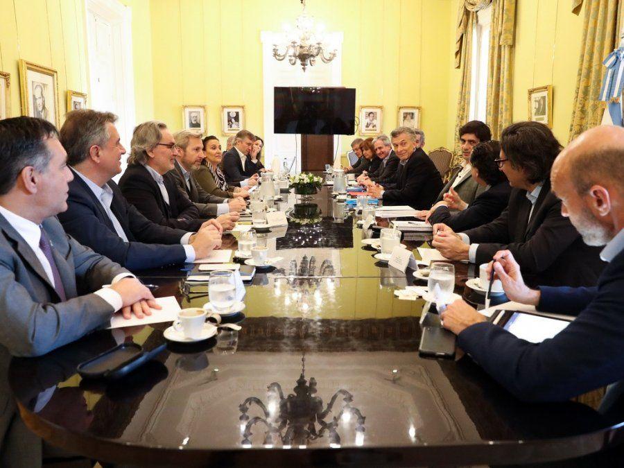 Macri encabezó una reunión de Gabinete
