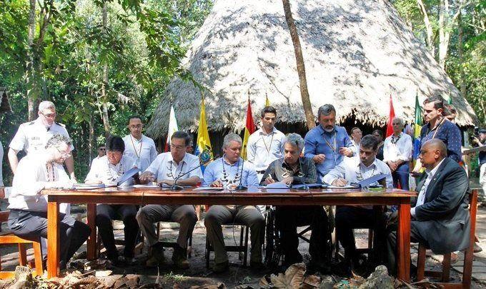 Se firmó un pacto para proteger el Amazonas