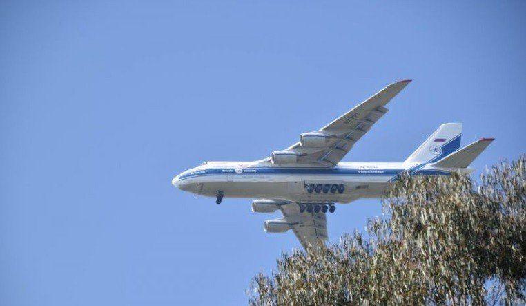 El avión ruso Antonov An-124 aterrizará otra vez en la provincia