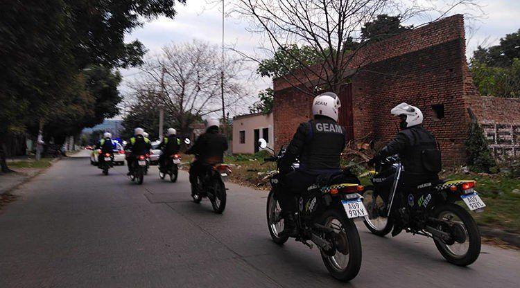 Cientos de detenidos y vehículos secuestrados durante el fin de semana