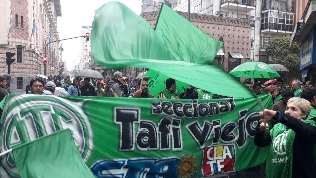 En el marco del paro nacional, ATE Tucumán movilizó hacia ANSES