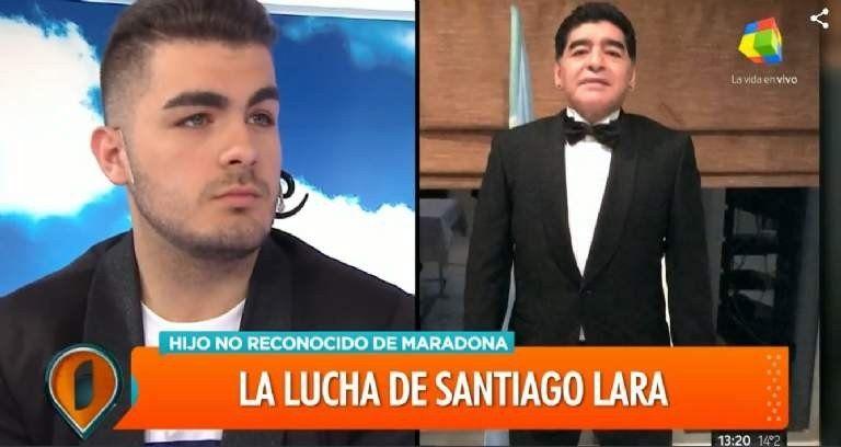 Santiago Lara, un nuevo hijo no reconocido de Diego: A los 13 me enteré que podía ser hijo de Maradona