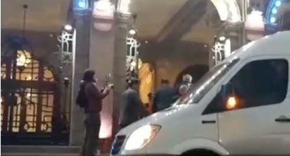 VIDEO Así llegaba Alberto Fernández a la Casa de Gobierno