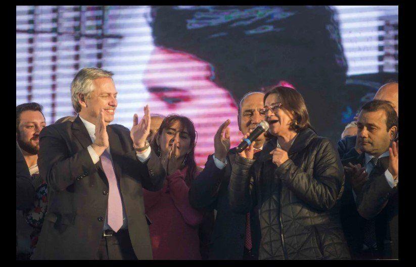 Lucía Corpacci estuvo con Fernández y cargó contra el Gobierno nacional