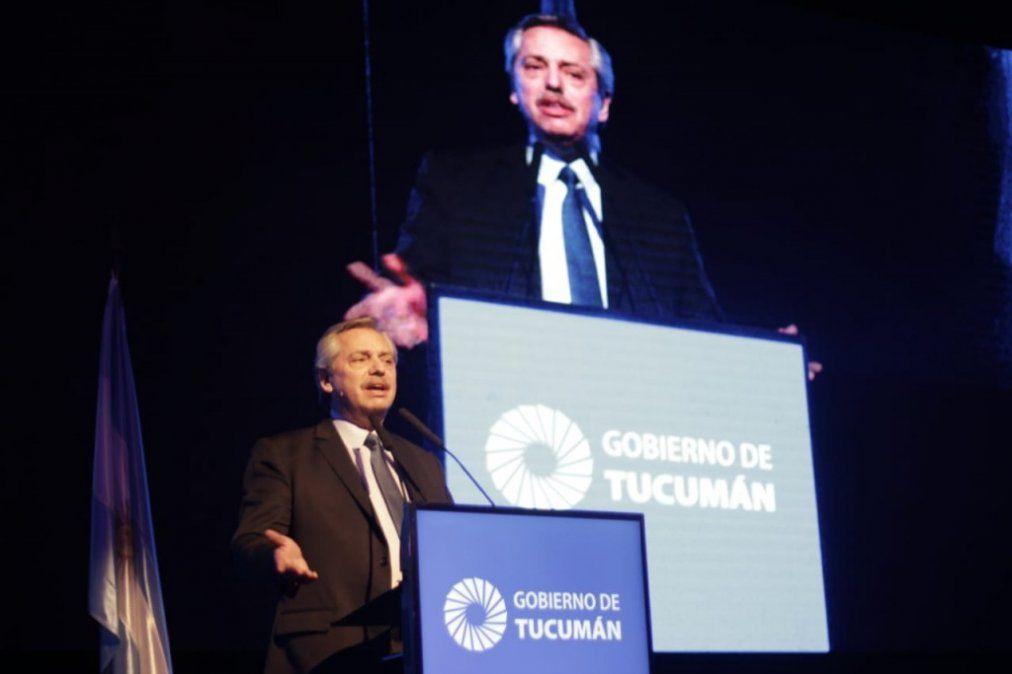 Alberto Fernández y el cierre de su visita: ¡Gracias, Tucumán!