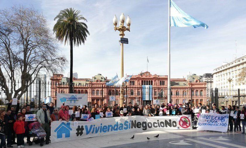 Hipotecados UVA marcharán a Plaza de Mayo