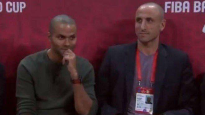 Viejos conocidos: Ginóbili y Parker disfrutaron la final del Mundial