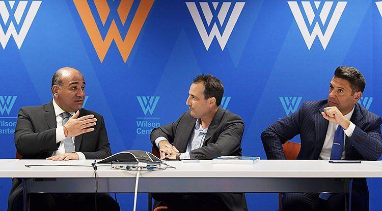 En el prestigioso Wilson Center comenzó la agenda oficial de Manzur en EEUU