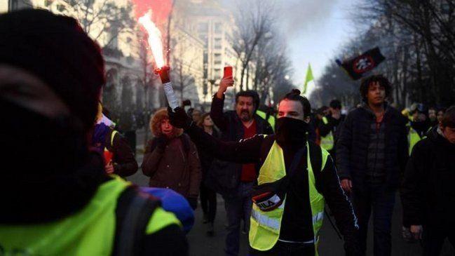Nuevo sábado de chalecos amarillos dejó 123 detenidos
