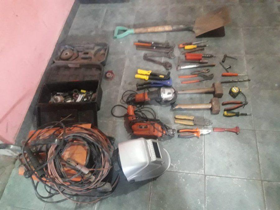 Secuestran numerosas herramientas en un allanamiento en San Cayetano