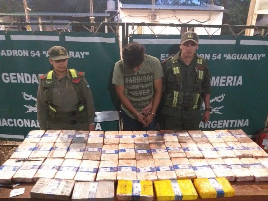 Incautaron 40 kilos de droga en un control de Gendarmería