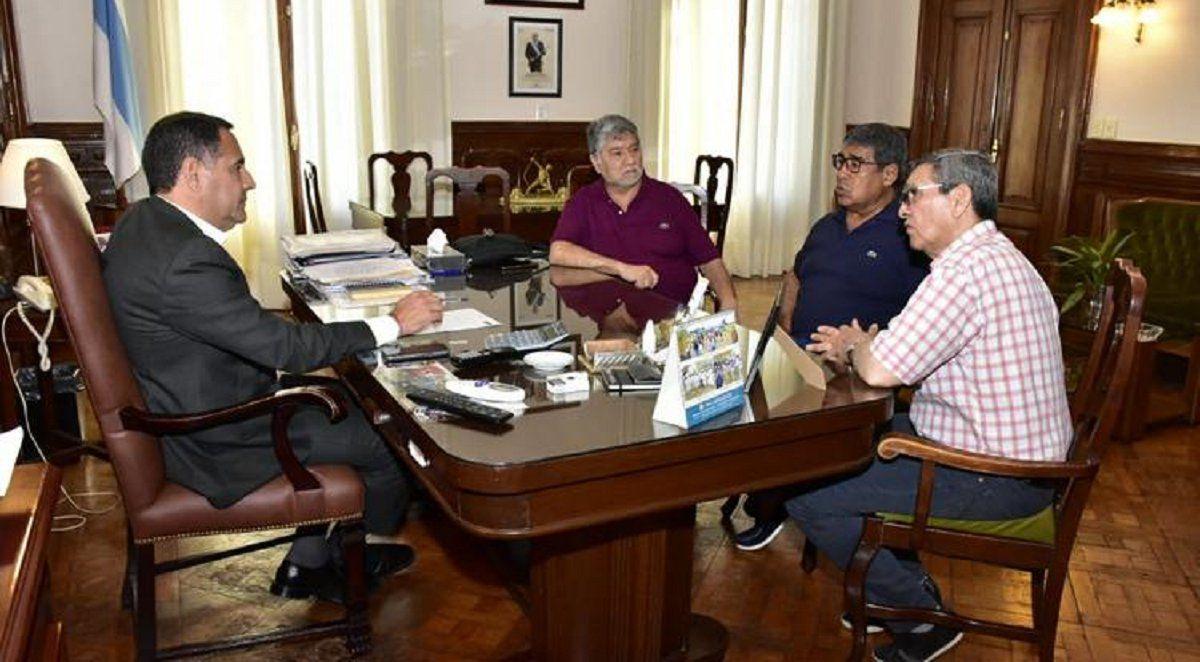 Regino Amado se reunió con dirigentes de UTA