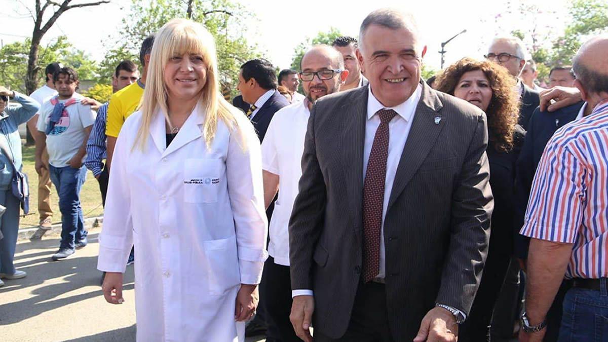 Rossana Chahla y Osvaldo Jaldo.