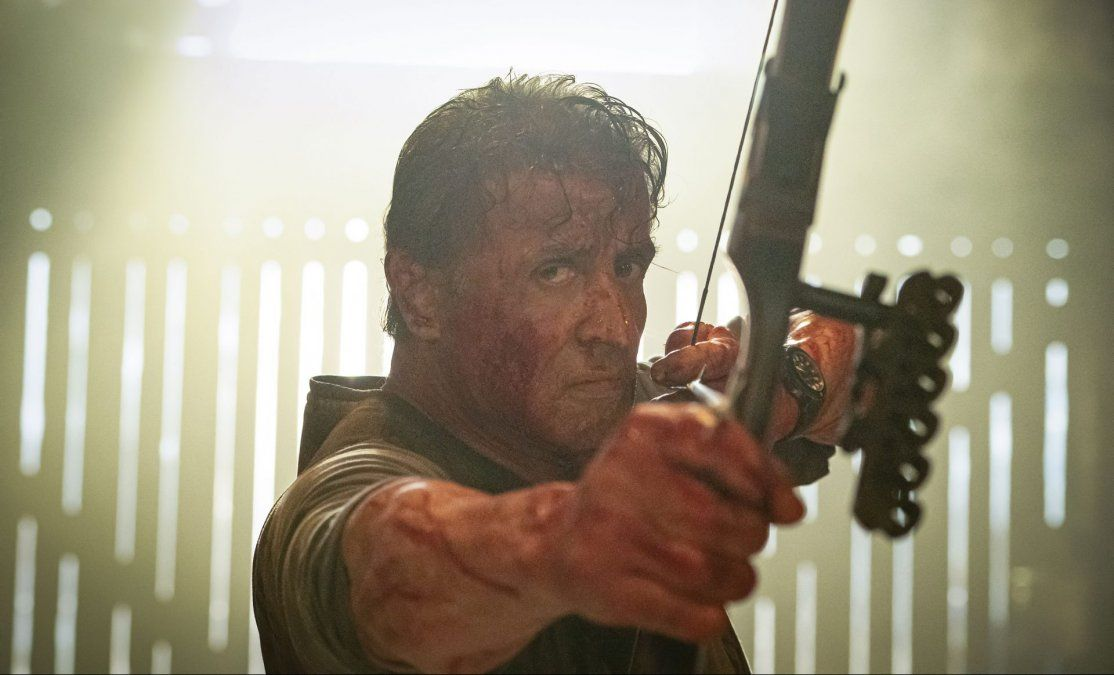 Sylvester Stallone el protagonista de Rambo.