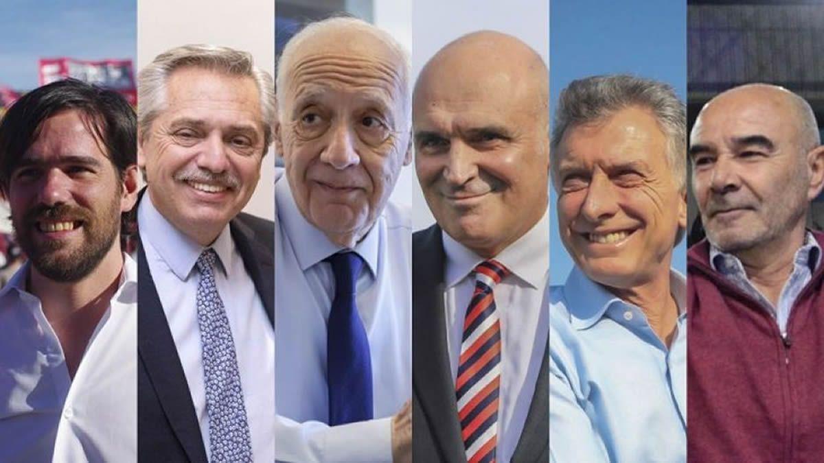 Los seis candidatos presidenciales.