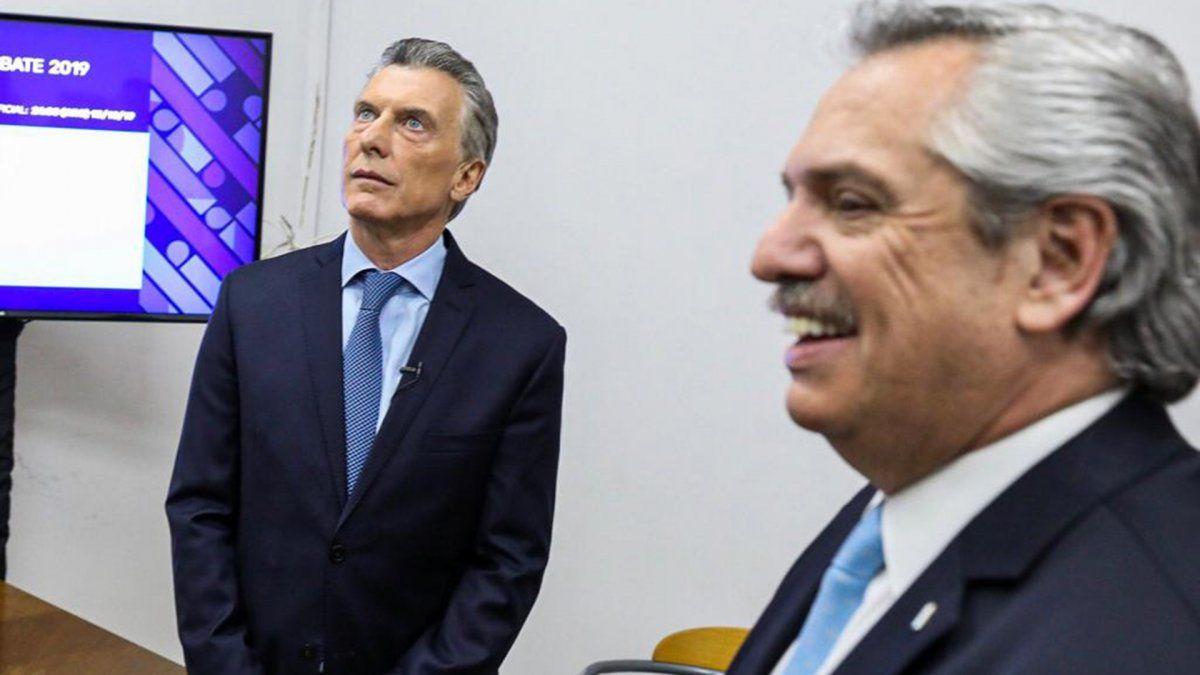 Los cruces entre Mauricio Macri y Alberto Fernández marcaron el duelo de candidatos
