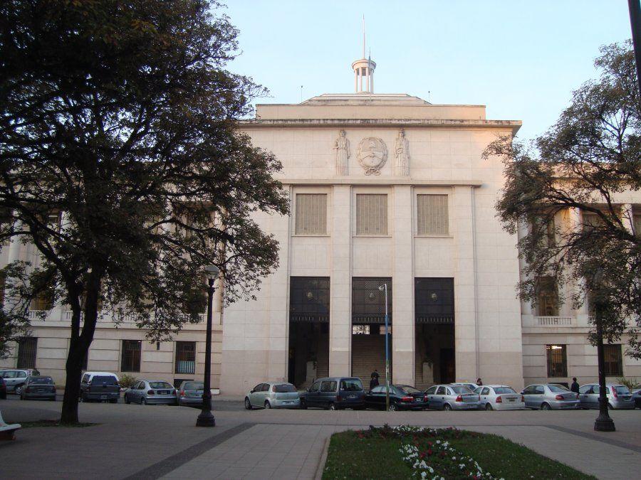 La obstrucción afectó al sector contiguo del hall central del Palacio de Tribunales.