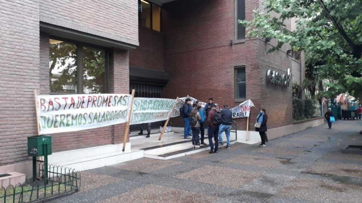 Jornada de protesta en las puertas de Gasnor