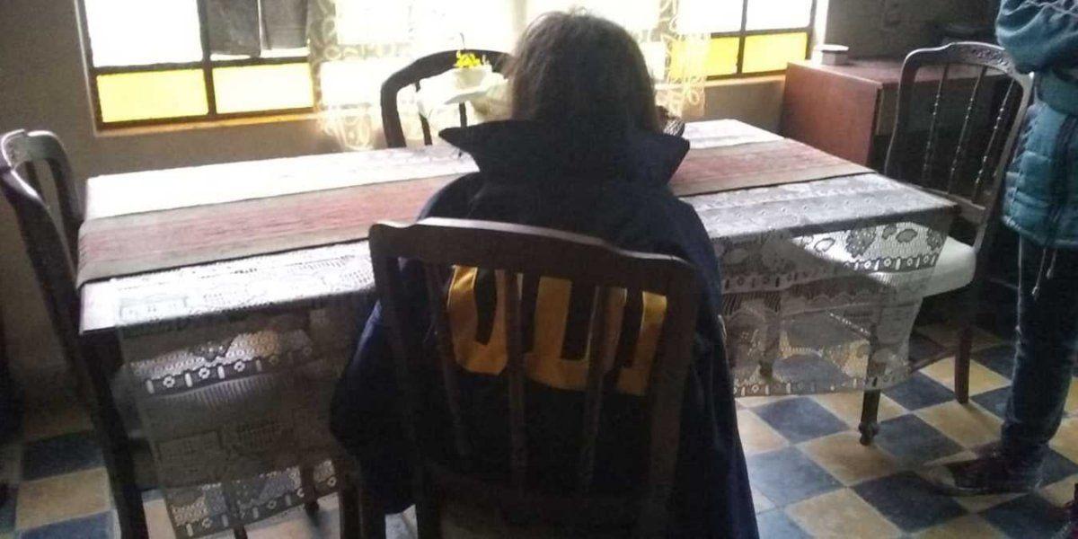 Abril apareció con vida en la casa de su vecina