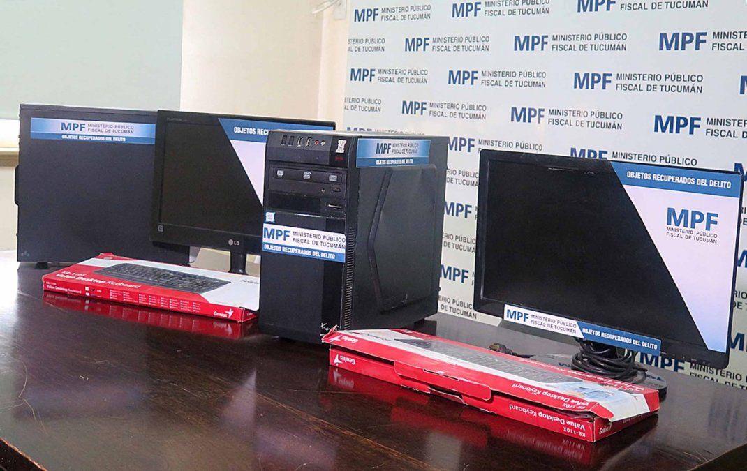 Computadoras entregadaspor parte del MPF.