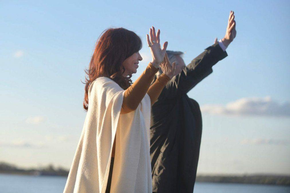 Alberto Fernández y Cristina Kirchner celebraron el Día de la Lealtad