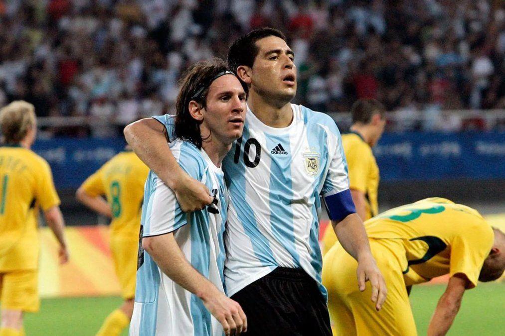 Messi y Riquelme se conocieron en la Selección