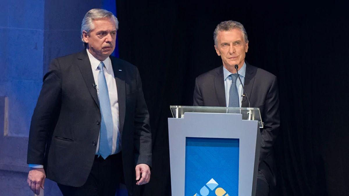 Quiénes acompañaron a Mauricio Macri y Alberto Fernández