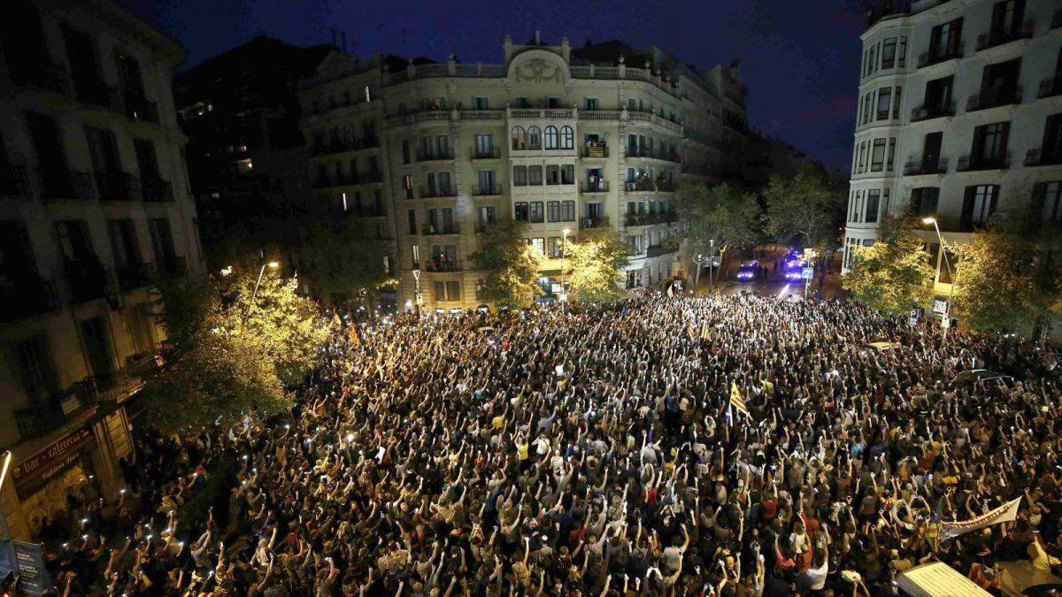 Las manifestaciones en Cataluña no registraron disturbios