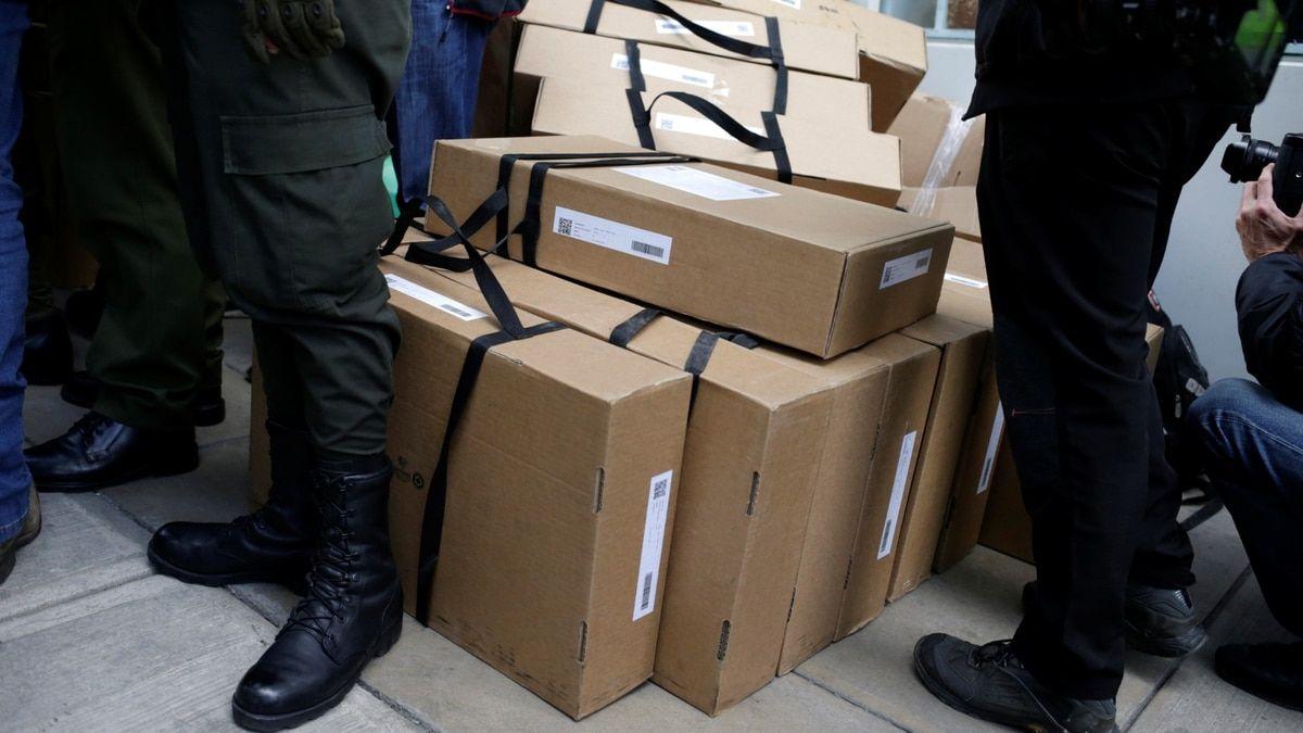 Urnas electorales halladas en La Paz