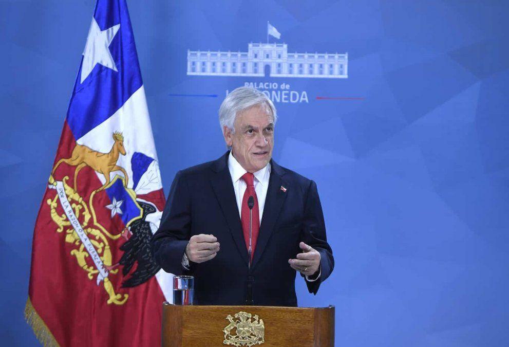 El presidente chileno anunció una serie de medidas.